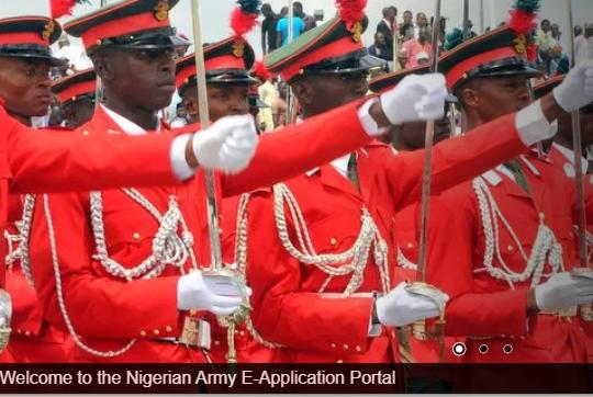 Nigerian Army 80rri shortlist
